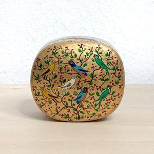 VINTAGE Bird Paper Mâché Sudha Style Trinket Box